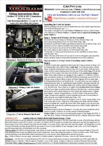 V8 Fitting Inst
